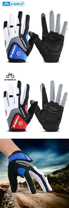 [Visit to Buy] INBIKE Bicycle Bike Cycling Gloves Full Finger Gel Padded Outdoor Sports Skiing Glove Motorcycle Racing Climbing Gloves ciclismo #Advertisement