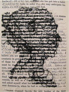 Embroidery book art from Lauren Dicioccio