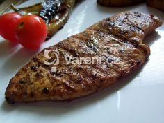 Kuřecí prsa s nasládlou chutí. Opět jeden recept na gril. Steak, Food, Meal, Essen, Steaks, Hoods, Meals, Eten, Beef