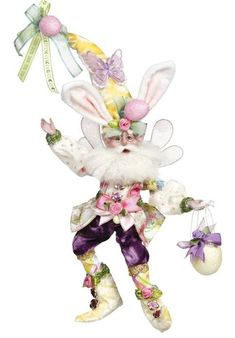 ShopHQ Shopping - Mark Roberts Small or Medium Limited Edition Easter Basket Fairy. No springtime style is complete with this Easter Basket fairy! In your choice of limited edition size, this mischievous mister tops your mantel or display sh Mark Roberts Elves, Mark Roberts Fairies, Spring Fairy, Fairy Figurines, Easter Parade, Easter Bunny Decorations, Mermaid Blanket, Easter Crafts For Kids, Crochet Patterns For Beginners