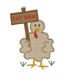 Turkey Ham Applique - 3 Sizes!   Thanksgiving   Machine Embroidery Designs   SWAKembroidery.com Applique for Kids