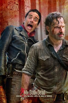 Negan and Rick Grimes by Carrion