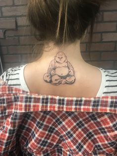 Laughing Buddha tattoo executed by Ziggy at Little Bros Tattoo in CB IA. Buddha Tattoo Design, Buddha Tattoos, Buddha Tattoo Meaning, Tattoo Design Drawings, Tattoos With Meaning, Tattoo Designs Men, Hand Tattoos, Forearm Tattoos, Small Tattoos