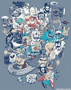 30 Ilustraciones creativas para remeras - Puerto Pixel | Recursos de Diseño