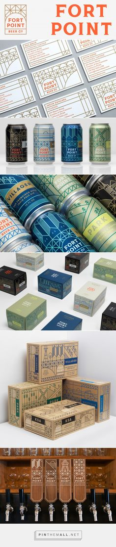 Brand New: New Logo, Identity, and Packaging for Fort Point Beer by Manual