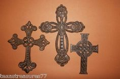 (3), San Juan Trio, Crosses, Cast Iron, Christianity, Biblical History