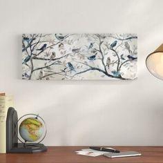 Charlton Home 'Morning Chorus' Graphic Art Print on Wrapped Canvas Metal Wall Decor, Metal Wall Art, Wood Art, Painting Frames, Painting Prints, Art Prints, Oil Paintings, Art Sur Toile, Canvas Art