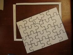 How to make a puzzle. Diy Recycled Cereal Box Puzzle - Step 9