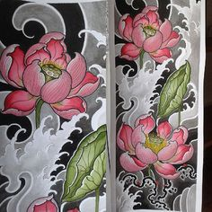 New tattoo flower acuarela ink Ideas Japanese Flower Tattoo, Japanese Sleeve Tattoos, Japanese Flowers, Japanese Art, Best Tattoo Designs, Flower Tattoo Designs, Flower Tattoos, Dibujos Tattoo, Desenho Tattoo