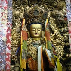 Statue of Jowo Rinpoche, one of the most revered images in Lhasa, Tibet.