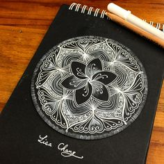 White on black Zendala by @lisa565998