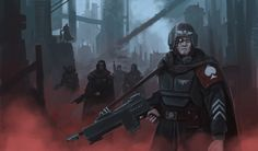 Imperial Guard Killteam by Samuel Allan - The Inquisitors Art Gallery Warhammer Imperial Guard, 40k Imperial Guard, Chris Hemsworth Thor, Emma Frost, Star Lord, Guardians Of The Galaxy, Captain Marvel, Hulk, Imperial Guardsman