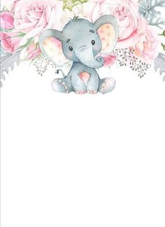 Elephant Baby Shower Favors, Baby Elephant Nursery, Elephant Theme, Elephant Baby Showers, Pink Elephant, Baby Record Book, Showers Of Blessing, Cute Canvas, Baby Journal