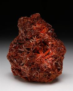 A very richly intergrown crystal specimen of Crocoite from the Dundas mining area Tasmania, Australia. Classic lustrous orange prismatic crystals of Crocoite measure to in a large aggregate. Minerals And Gemstones, Crystals Minerals, Rocks And Minerals, Stones And Crystals, Gem Stones, Quarts Crystal, Gem Diamonds, Beautiful Rocks, Mineral Stone