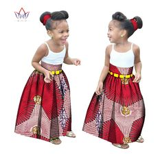 Summer Children African Clothes Customized Girl Fashion Long Skirt African Dashiki Print Clothing with a Free Headband BRW WYT34-in Africa Clothing from Novelty & Special Use on Aliexpress.com | Alibaba Group