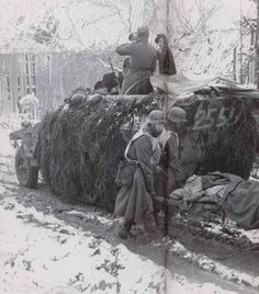 German soldiers evacuating their wounded