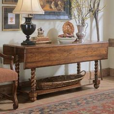 Tables like this are so versatile. Love it! (aw) (and Hooker Furniture is good stuff!) Hooker Furniture Wakefield Drop Leaf Table