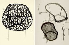 Chair Sketches by  the Bouroullec Brothers