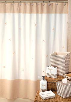 Creative Bath Dragon Fly Shower Curtain and Hooks