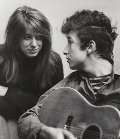 Bob Dylan and his girlfriend Suze Rotolo, photographed by Don Hunstein, in their West Fourth Street apartment, February 1963.