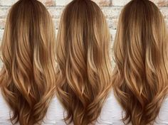 Butterscotch hair and layered hair Butterscotch Hair Color, Caramel Brown Hair Color, Light Caramel Hair, Caramel Blonde, Caramel Balayage, Hair Color Brands, Organic Hair Color, Ivana Trump, Hair Color And Cut