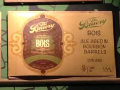 """The Bruery Bois was, again, fantastic, dark and sweet. You could taste the whiskey influence from the aging barrels. I thought it had a rich, maple syrup finish and would go very well on """"drunk waffles""""."""
