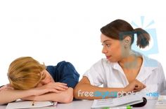 """""""Teenage Boy Sleeping In Classroom"""" by Ambro The New School, New School Year, Going Back To School, Back To School Images, Classroom Images, Royalty Free Stock Photos, Learning, Boys, Health And Wellness"""