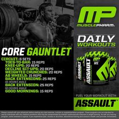 #MusclePharm Daily Workouts!  Saturday Core Gauntlet  #WeLiveThis #RealAthletesRealScience #MPNation