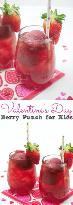 Valentine's Day Berry Punch For Kids - simplytodaylife.com