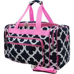 33ae1a2b827c Monogram Navy n pink Canvas Duffel bag monogram duffel by momanme2 Duffel  Bag