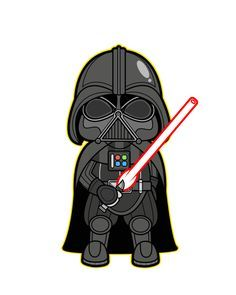 Star Wars Kawaii Saga - Star Wars Poster - Ideas of Star Wars Poster - - Darth Vader Darth Vader Star Wars, Darth Vader Cartoon, Lego Do Star Wars, Darth Vader Clipart, Lego Star, Darth Maul, Star Wars Meme, Star Wars Quotes, Star Trek
