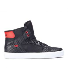 separation shoes 92a6c 9b8a9 Chaussures Homme, Supra Chaussures, Chaussures En Ligne, Rouge Et Blanc,  High Tops