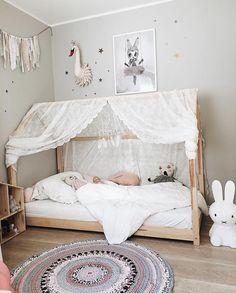 Big Girl Bedrooms, Girls Bedroom, Girl Rooms, Big Beds, Toddler Rooms, Toddler Bedding Girl, Toddler Floor Bed, Girl Bedroom Designs, House Beds