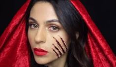 Image result for creepy red riding hood make up