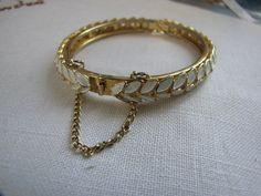 vintage gold/white bangle