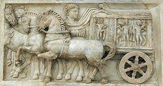 Rilievo con la processione dei carri per lo spettacolo del circo (ca.280 d.C.) - British Museum