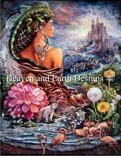 The Untold Story - Painting by Josephine Wall.  Chart design by Michele Sayetta for Heaven and Earth Designs.