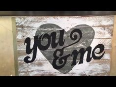 Designing A Painted Wooden Decor Sign Made From Pallets, How To Ideas - YouTube