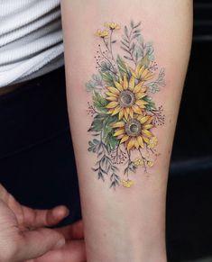 Floral forearm piece by Eva Karabudak