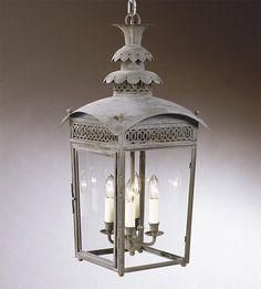 Hanging Regency Pineapple Lantern HL 202-Charles Edwards