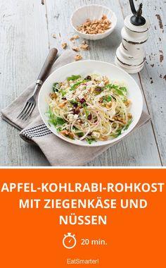 Apfel-Kohlrabi-Rohkost mit Ziegenkäse und Nüssen - smarter - Zeit: 20 Min. | eatsmarter.de