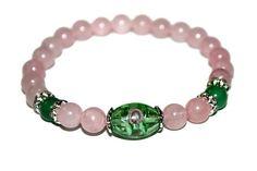 Pink Stone Jewelry Rose Quartz Bracelet Flower Bracelet Gift for Wife Daughter Bracelet Gift for Sister Rose Quartz Jewelry Love Bracelet