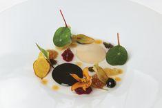 White Bean Cream, Black Olive and Tomato Juice