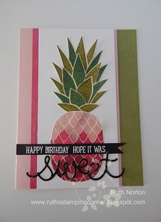 Ruth's Stamping Corner: Birthday Pineapple