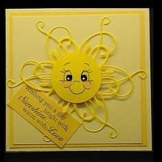 Possibly MB die, circle punch and Peachy Keen face stamp Not found on website Memories Box, Memory Box Cards, Quilled Creations, Get Well Cards, Card Tags, Creative Cards, Cool Cards, Kids Cards, Greeting Cards Handmade