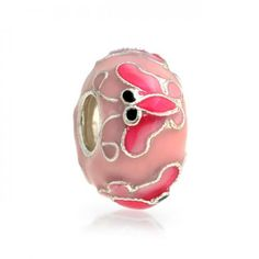 Pink Butterfly Enamel Bead Charm Sterling Silver - - Home, Bracelets, Charms & Charm Bracelets & Charm Bracelets Dragonfly Jewelry, Snake Jewelry, Horse Jewelry, Animal Jewelry, Bling Jewelry, Gemstone Jewelry, Silver Jewelry, Pink Butterfly, Monarch Butterfly