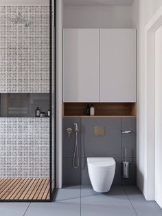 View the full picture gallery of Sosnovaya Wc Design, Bathroom Design Layout, Toilet Design, Modern Bathroom Design, Bathroom Interior Design, Modern Bathroom Cabinets, Rustic Bathroom Vanities, Modern Bathroom Decor, Boho Bathroom