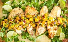 9 Summer Chicken Dinners Under 450 Calories ift.tt/2vuGOyI Our users log chicken more than any other protein so weve found nine new chicken recipes for healthy summer dinners. From grilled kebabs to colorful salads they are all full of flavor and lean protein. Whip up one for a weeknight dinner or your next summer cookout. 1. TEQUILA LIME CHICKEN WITH GRILLED PINEAPPLE MANGO SALSA | RECIPE RUNNER Just to be clear the tequila is in the marinade of this grilled chicken dish. The smoky-sw