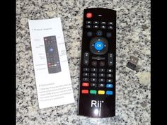 Rii MX3 M, Mando Control Remoto TV con Teclado y Ratón Aéreo