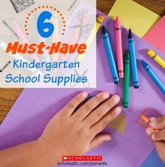 Prepare your child for kindergarten by practicing using these simple school supplies.